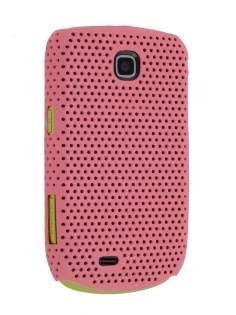 Samsung S5570 Galaxy Mini Slim Mesh Case - Baby Pink Hard Case