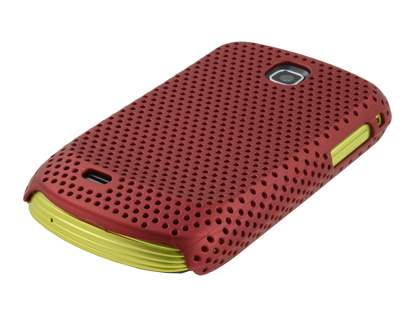 Samsung S5570 Galaxy Mini Slim Mesh Case - Burgundy Red