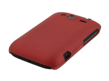 HTC Wildfire S Micro Mesh Case - Burgundy Red