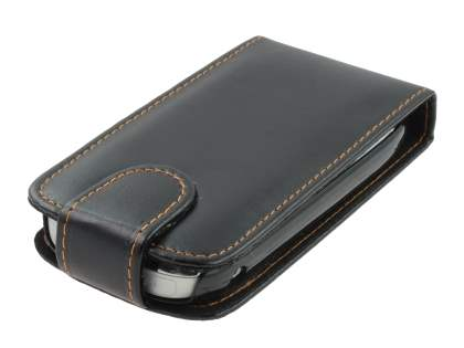 Nokia C7 Synthetic Leather Flip Case - Black