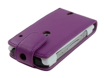Sony Ericsson Xperia neo Synthetic Leather Flip Case - Purple