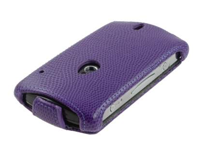 Synthetic Leather Flip Case for Sony Ericsson Xperia neo MT15i - Purple