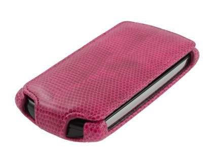 Synthetic Leather Flip Case for Sony Ericsson Xperia neo MT15i - Hot Pink