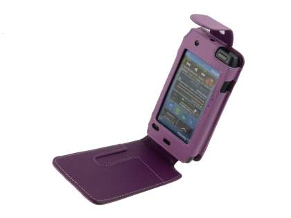 Nokia N8 Synthetic Leather Flip Case - Purple