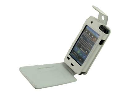 Synthetic Leather Flip Case for Nokia N8 - White