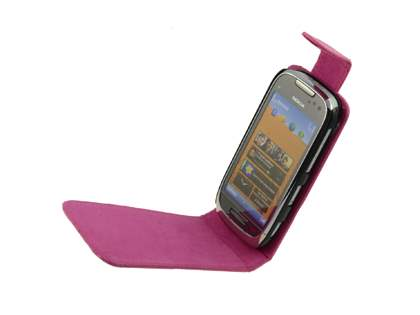 Nokia C7 Synthetic Leather Flip Case - Pink