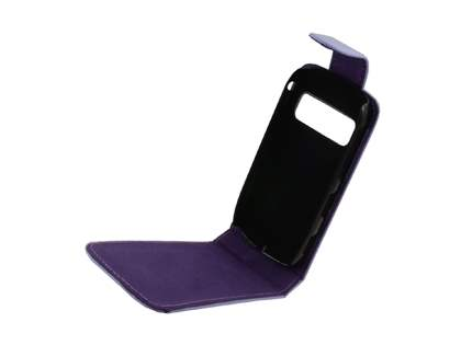 Synthetic Leather Flip Case for Nokia C7 - Purple