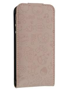Lopez iPhone 4/4S Slim Synthetic Leather Flip Case - Desert Sand Leather Flip Case