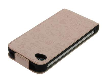 Lopez iPhone 4/4S Slim Synthetic Leather Flip Case - Desert Sand