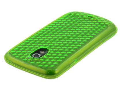 Samsung Google Galaxy Nexus I9250 TPU Gel Case - Diamond Green