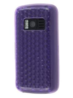 Nokia C6-01 TPU Gel Case - Diamond Purple Soft Cover