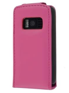 Nokia C6-01 Synthetic Leather Flip Case - Pink Leather Flip Case
