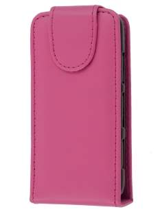 Nokia C6-01 Synthetic Leather Flip Case - Pink