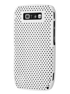 Nokia E71 Slim Mesh Case - Pearl White Hard Case