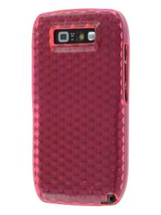 Nokia E71 TPU Gel Case - Diamond Pink Soft Cover