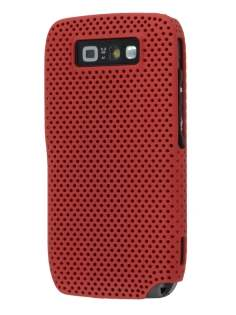 Nokia E71 Slim Mesh Case - Burgundy Red Hard Case