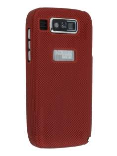Nokia E72 Dream Mesh Case - Burgundy Red Hard Case