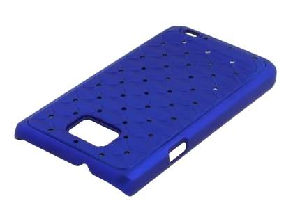 Diamante-Studded Fashionable Case for Samsung I9100 Galaxy S2 - Blue