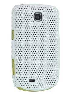 Samsung S5570 Galaxy Mini Slim Mesh Case - Pearl White Hard Case