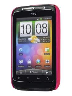 Rubberised Colour Case for HTC Wildfire S - Hot Pink