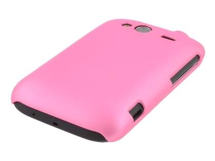 Rubberised Colour Case for HTC Wildfire S - Baby Pink