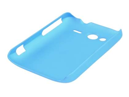 Rubberised Colour Case plus Screen Protector for HTC Wildfire S - Sky Blue