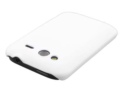 Rubberised Colour Case plus Screen Protector for HTC Wildfire S - Pearl White