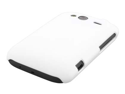 Rubberised Colour Case for HTC Wildfire S - Pearl White