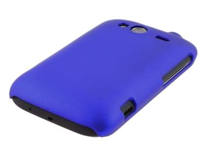 Rubberised Colour Case plus Screen Protector for HTC Wildfire S - Navy Blue