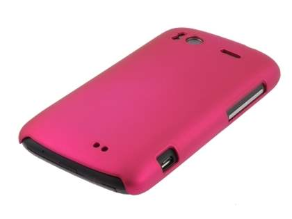 Rubberised Colour Case plus Screen Protector for HTC Sensation - Hot Pink