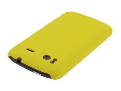 Rubberised Colour Case plus Screen Protector for HTC Sensation - Canary Yellow