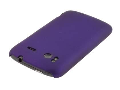 Rubberised Colour Case plus Screen Protector for HTC Sensation - Grape Purple