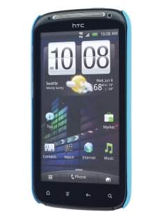 Rubberised Colour Case for HTC Sensation - Sky Blue