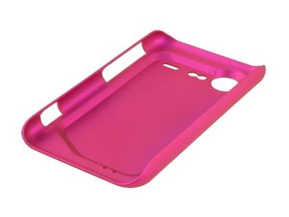 Rubberised Colour Case plus Screen Protector for HTC Incredible S - Hot Pink