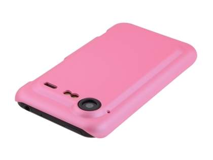 Rubberised Colour Case plus Screen Protector for HTC Incredible S - Baby Pink