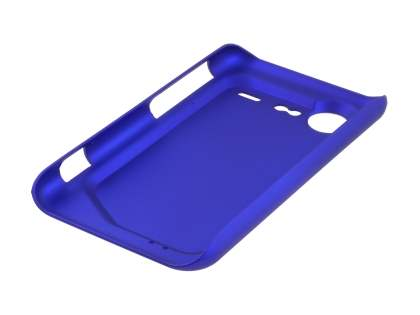 Rubberised Colour Case plus Screen Protector for HTC Incredible S - Navy Blue