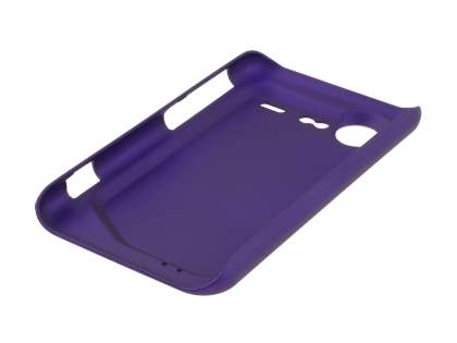 Rubberised Colour Case plus Screen Protector for HTC Incredible S - Grape Purple