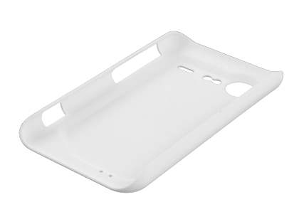 Rubberised Colour Case plus Screen Protector for HTC Incredible S - Pearl White