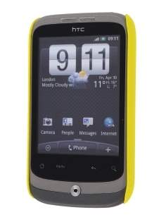 Rubberised Colour Case for HTC G8 Wildfire - Canary Yellow