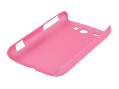Rubberised Colour Case plus Screen Protector for HTC G8 Wildfire - Baby Pink