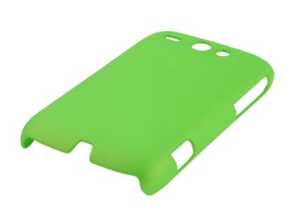 Rubberised Colour Case plus Screen Protector for HTC G8 Wildfire - Lime Green