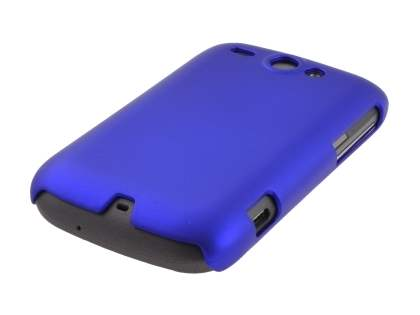 Rubberised Colour Case plus Screen Protector for HTC G8 Wildfire - Navy Blue