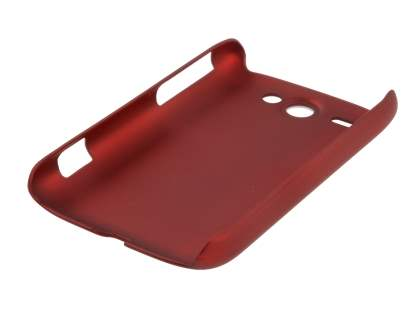 Rubberised Colour Case plus Screen Protector for HTC G8 Wildfire - Burgundy Red