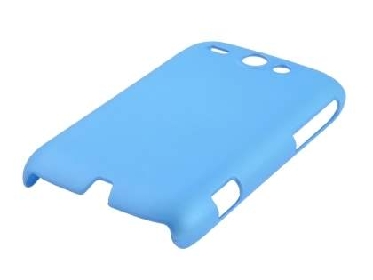 Rubberised Colour Case plus Screen Protector for HTC G8 Wildfire - Sky Blue