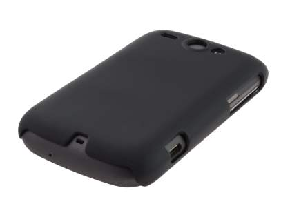 Rubberised Colour Case for HTC G8 Wildfire - Classic Black