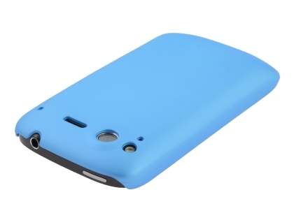Rubberised Colour Case plus Screen Protector for HTC Desire S - Sky Blue