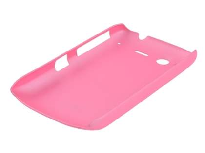 Rubberised Colour Case plus Screen Protector for HTC Desire S - Baby Pink