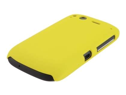 Rubberised Colour Case plus Screen Protector for HTC Desire S - Canary Yellow
