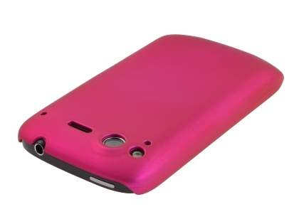 Rubberised Colour Case plus Screen Protector for HTC Desire S - Hot Pink