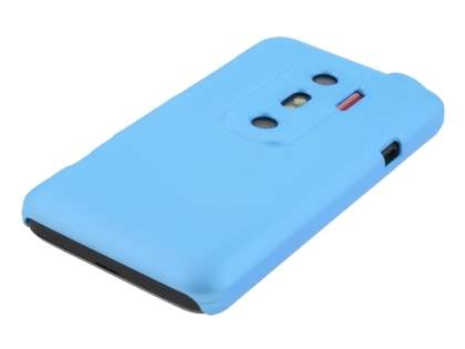 Rubberised Colour Case for HTC EVO 3D - Sky Blue